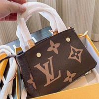 LV Fashion New Monogram Leather Shoulder Bag Handbag Crossbody Bag