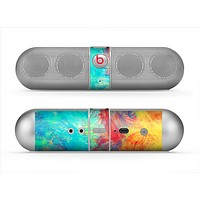 The Vibrant Colored Messy Painted Canvas Skin for the Beats by Dre Pill Bluetooth Speaker