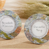 Travel and Adventure Vintage Map Photo Frame