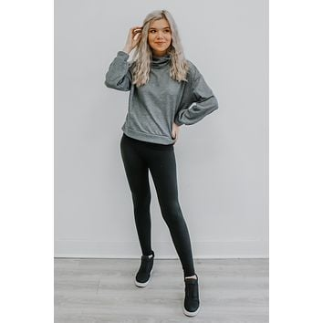 Waiting For The Weekend Top - Heather Grey