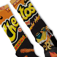 XXtra Flamin Hot Cheetos Custom Nike Elite Socks