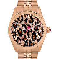 GLITTER LEOAPRD FACE WATCH