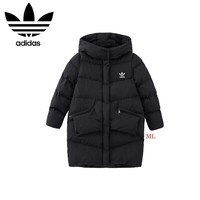 """""""Adidas"""" Women Fashion Simple Solid Color Pocket Hoodie Long Sleeve Cotton-padded Clothes Coat"""