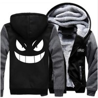 Pokemon Gengar Thick Winter Zipper Anime Hoodie