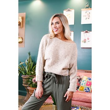 Boucle Cropped Sweater, Natural |  RD Style