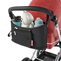 Stroller Organizer Caddy Bag w/ Detachable Pouch for Baby Toddlers Extras by Smart Strolls