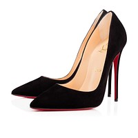 Cl Christian Louboutin So Kate Black Suede 13w Pumps 3130692bk01