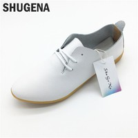B new Summer genuine leather women flats shoes female casual flat women loafers shoes slips leather black flat women's shoes