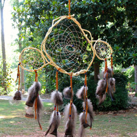 Extremely Unique Dream Catcher, Traditionally Made, Natural Materials, Authentic, Native American, Handmade, One-of-a-Kind