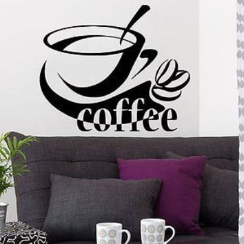 Wall Decal Coffee Beans Vinyl Sticker Decals A Cup Of Coffee Kitchen Cafe C296