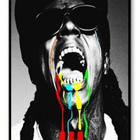 CreateDesigned Cool Rapper Lil Wayne Snap on Case Cover for Apple Iphone 4/4s TPU Case I4CD00576
