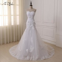 ADLN Custom Made Luxurious Croset Bodice Lace Top Quality Mermaid Wedding Dress 2016 Lace Wedding Gown mermaid wedding dresses