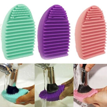 New Cleaning Glove MakeUp Washing Brush Scrubber Board Cosmetic Clean Tool = 1946507076