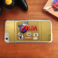 Gold, Nintendo, N64 Legend of Zelda Cartridge, Custom Phone Case for iPhone 4/4s, 5/5s, 6/6s, 6/6s+, and iPod Touch 5