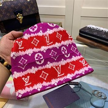 Louis Vuitton LV knitting The embroidery Hat