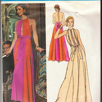 Vogue Couturier Design Pattern 2958 Pucci Evening Dress Size 12 with Label
