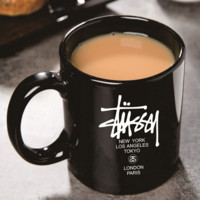 Stussy New fashion letter print couple personality cup Black