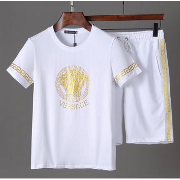 Boys & Men Versace Shirt Top Tee Shorts Set Two-Piece