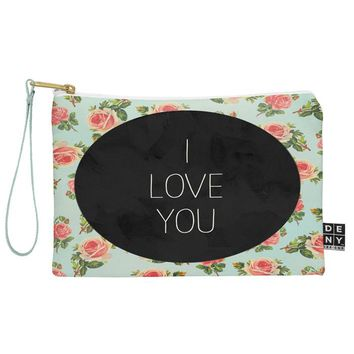Allyson Johnson I Love You Floral Pouch