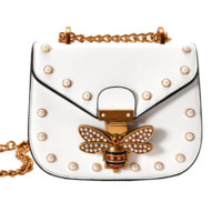 Women Brand Bee PU Leather Shoulder Bag Small Crossbody Bag with Chain For Girls Ladies Bag Bolso Mujer