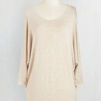 Mid-length 3 Sports Rapport Top in Oatmeal