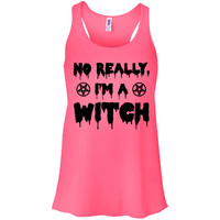 No Really, I'm a Witch Racerback Tank Top
