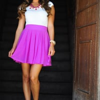 A Feat Of Pleats Skirt: African Violet   Hope's