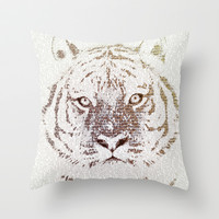The Intellectual Tiger Throw Pillow by Paula Belle Flores
