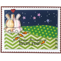 I Love you Card - Some Bunny Loves You - For Her - For Him - Anniversary Card- Boyfriend - Husband