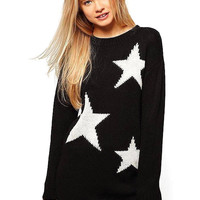 Black Star Print Jumper