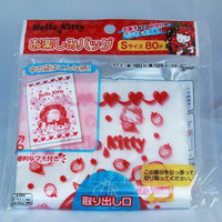 80pcs Pull-out Plastic Bags Hello Kitty as melting strawberry ice cream by Sanrio