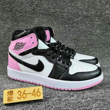 Women's and Men's NIKE Air Jordan 1 generation high basketball shoes  005