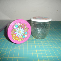 70s Ball Quilted Crystal Mason Jars