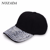 Brands NUZADA Fashion Minimalist Classic Romantic Women Sports Hat Hats Baseball Cap Rhinestone Hip Hop Snapback Caps szm-006