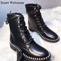 Stuart Weitzman New fashion women shoes boots Black