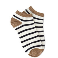 Metallic-Trimmed Stripe Socks