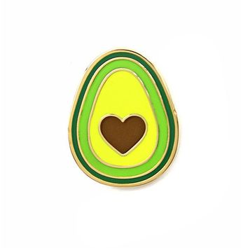 Avocado Heart Pin