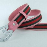 Gucci Men Women Fashion Smooth Buckle Leather Belt-19