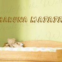 Lion King Hakuna Matata Disney - Girl's or Boy's Room Kids Baby Nursery - Quote Design Sticker Decoration, Art Mural Decor, Vinyl Saying, Large Wall Lettering Decal