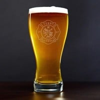 Firefighter Personalized Pilsner Glass