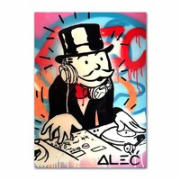 Graffiti Art Uncle Sam Wall Art Canvas Painting Nordic Posters And Prints Canvas Poster Wall Pictures For Living Room Home Decor