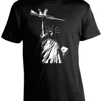Statue of Liberty with Gun AR-15 T-Shirt