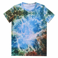 Space Galaxy Nebula All Over Print Hip Hop Urban Swag Sublimation All Over Print Shirt Tee Shirt Graphic Tee Gift Idea Free Shipping USA