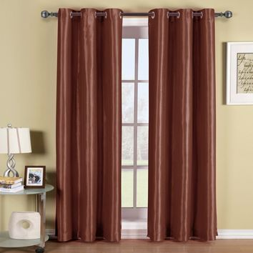 RUST Soho Grommet Thermal coating Blackout Window Curtain Panel (Single Panel)