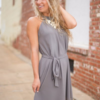 Lyrical Limerence Dress, Gray