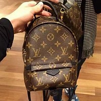 LV  Louis Vuitton LV Trending Woman Men Leather Travel Bookbag Shoulder Bag Backpack