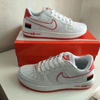 """Nike Air Force 1"" Unisex Sport Casual Multicolor National Flag Low Help Couple Plate Shoes Sneakers"