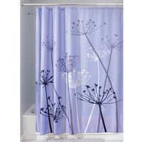 "Danielle Collection 'Dandelion' Fabric Shower Curtain 72"" x 72"""