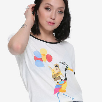 Disney Up Russell Riding Kevin Girls Ringer T-Shirt