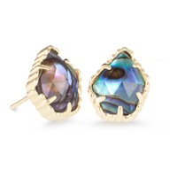 Kendra Scott: Tessa Stud Earrings In Abalone Shell